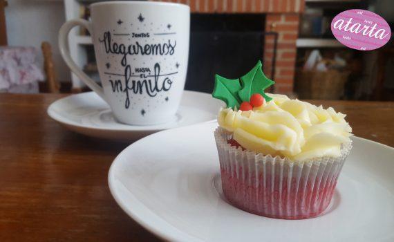 Cup cake de Navidad - www.atarta.com